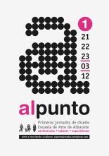 Cartel para las primeras Jornadas de diseño. Escuela de arte Albacete