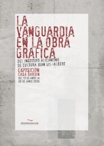 Cartel y catálogo para exposición de grabados del Instituto de cultura Juan Gil-Albert