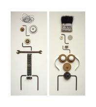 collage de objetos
