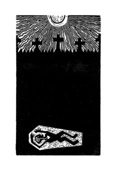 xilografía sobre relato de Edgar Allan Poe