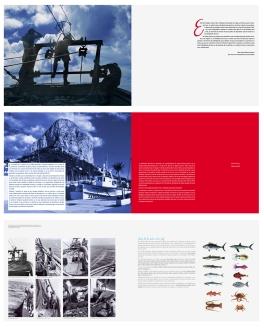 Páginas interiores del libro de la historia de la Cofradía de pescadores de Calpe. Alicante