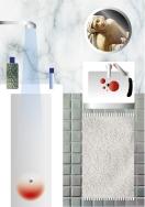 el baño. collage digital