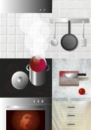la cocina. collage digital