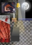 el dormitorio. collage digital